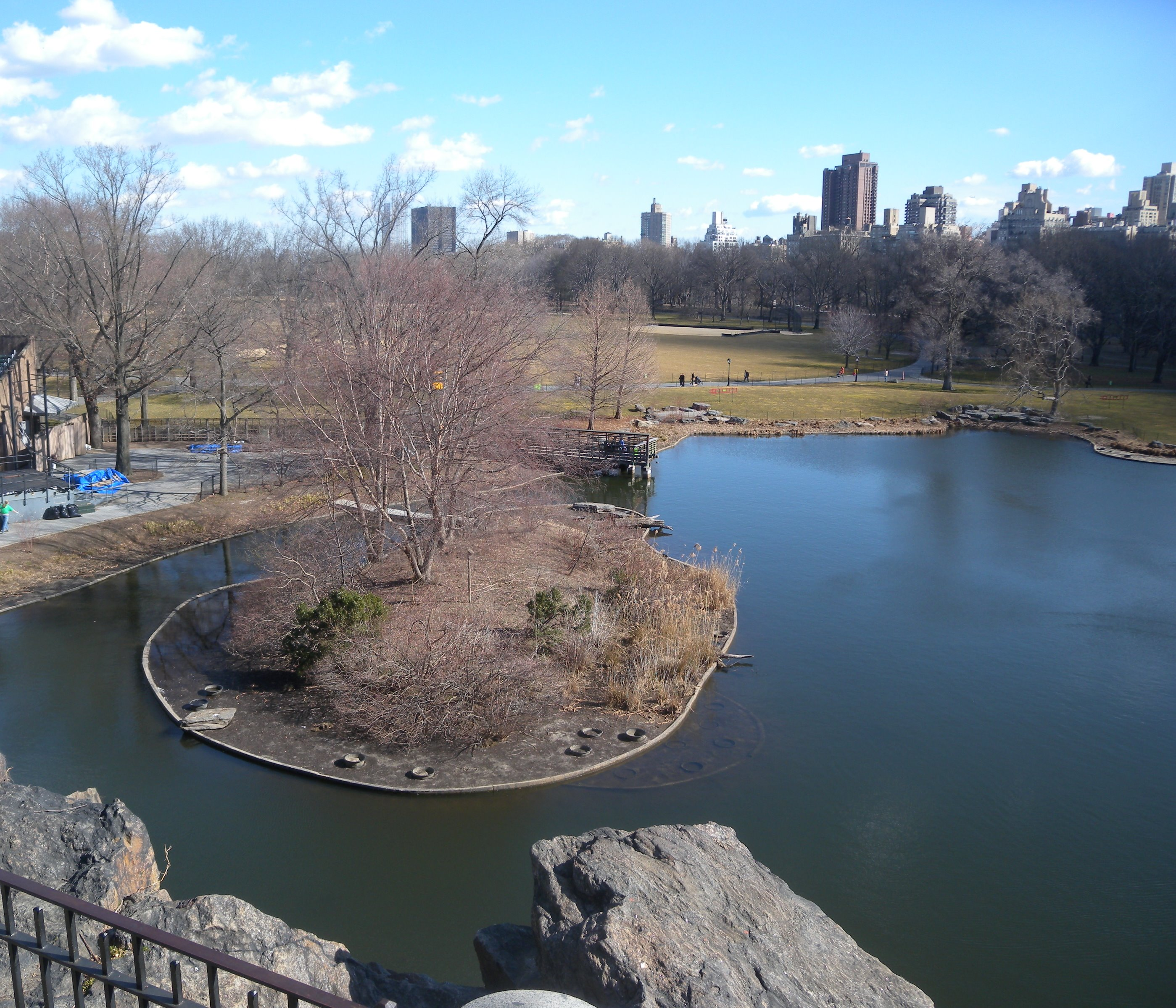 You can get here with your Central park bike rental, but you can't fish here.