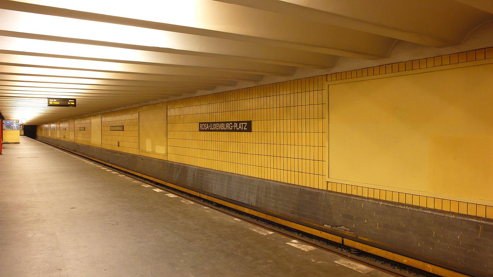 File U Bahnhof Rosa Luxemburg Platz Bahnsteig Jpg Wikimedia Commons