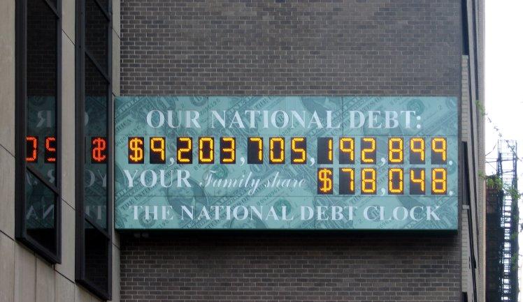US National Debt crop