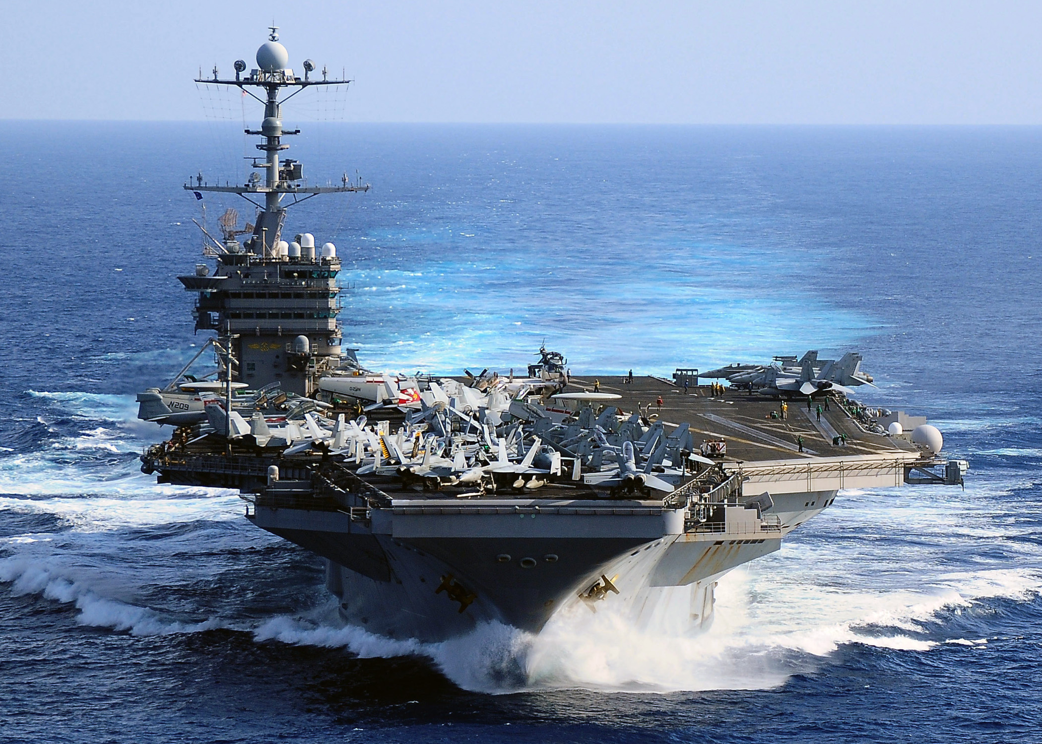 Us navy 091115 n 6720t 106 the aircraft carrier uss george washington