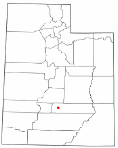 Location of Bicknell, Utah