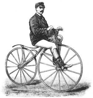 Zweirad mit Frontantrieb Velociped