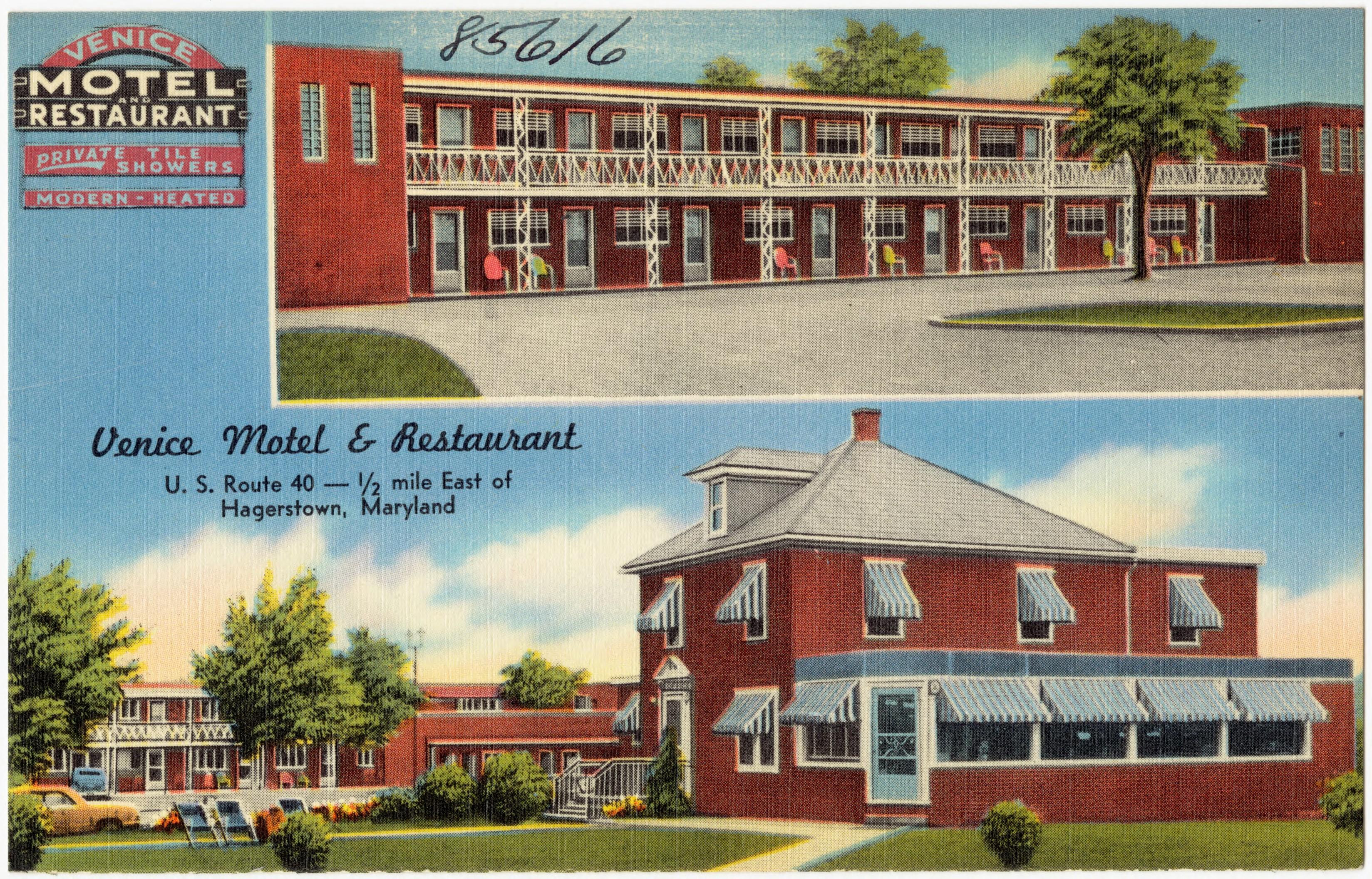 File Venice Motel And Restaurant U S Route 40 1 2 Mile