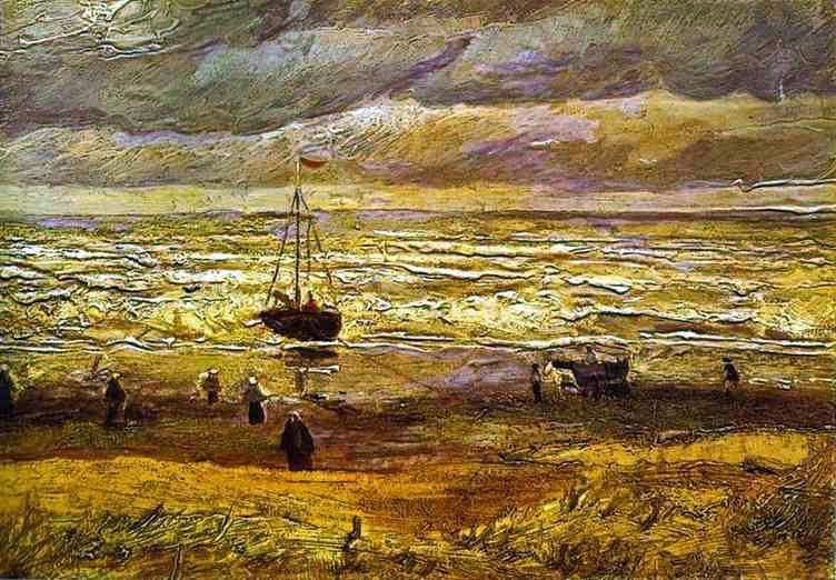 Omaž ribolovcu i ribolovu - Page 6 Vincent_van_Gogh,_Beach_with_Figures_and_Sea_with_Ship