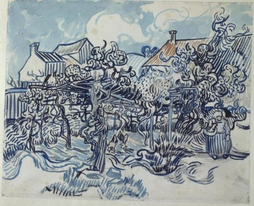 Vincent van Gogh - Old vineyard with peasant woman