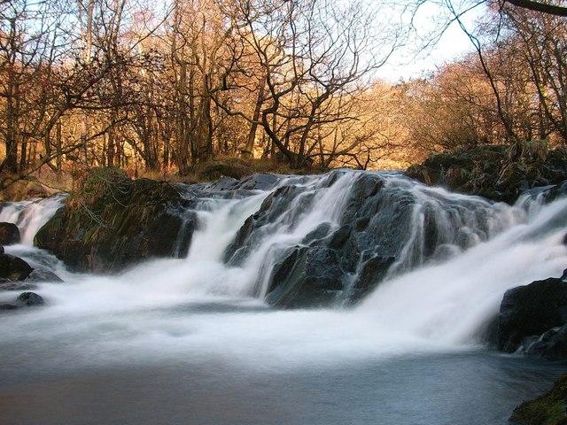 Waterfall on Tarn Beck - geograph.org.uk - 1578837