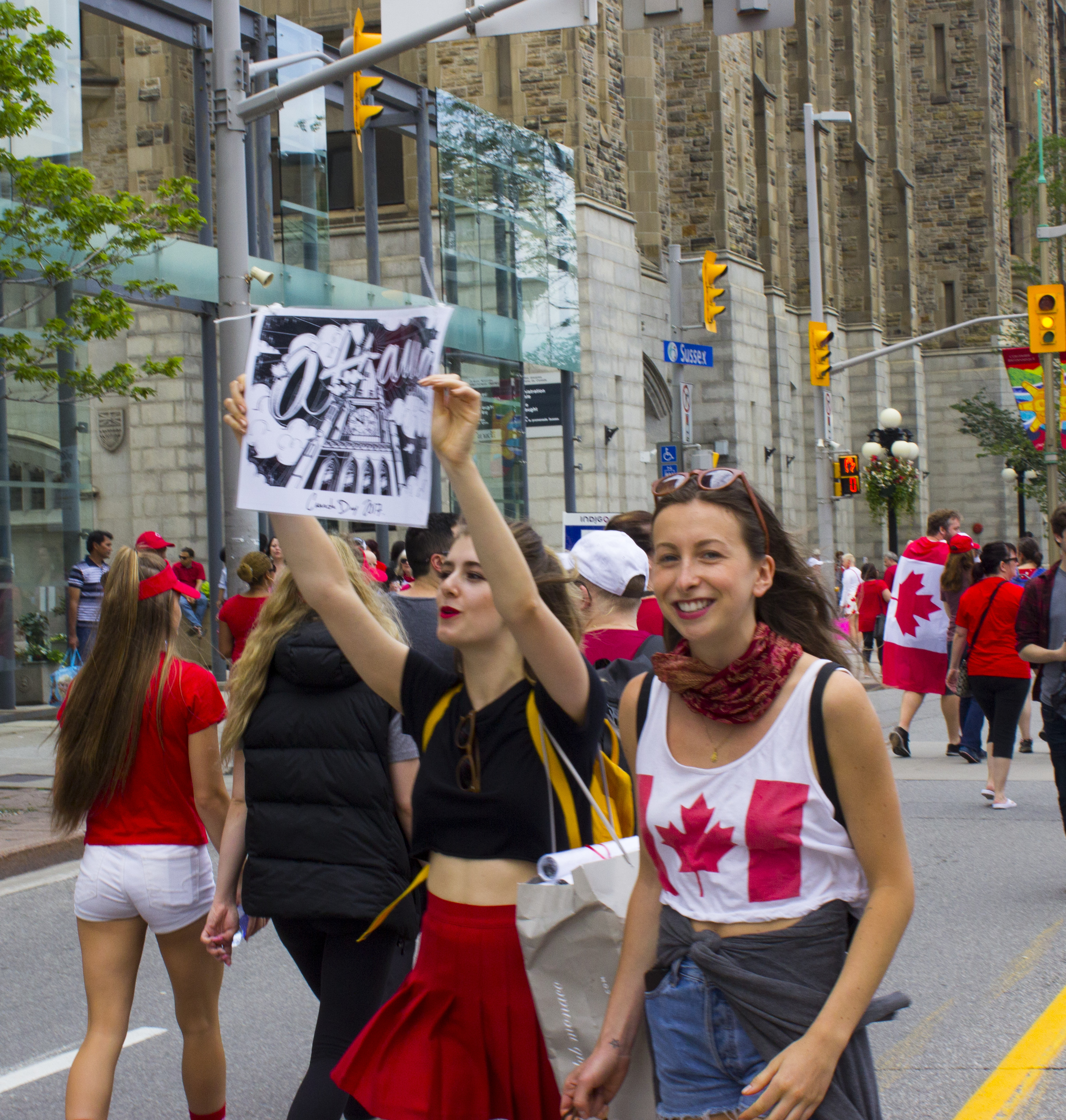 People at Canada Day celebrations