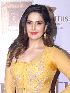 Zareen Khan graces the trailer launch of short film Udne Do (04) (cropped).jpg
