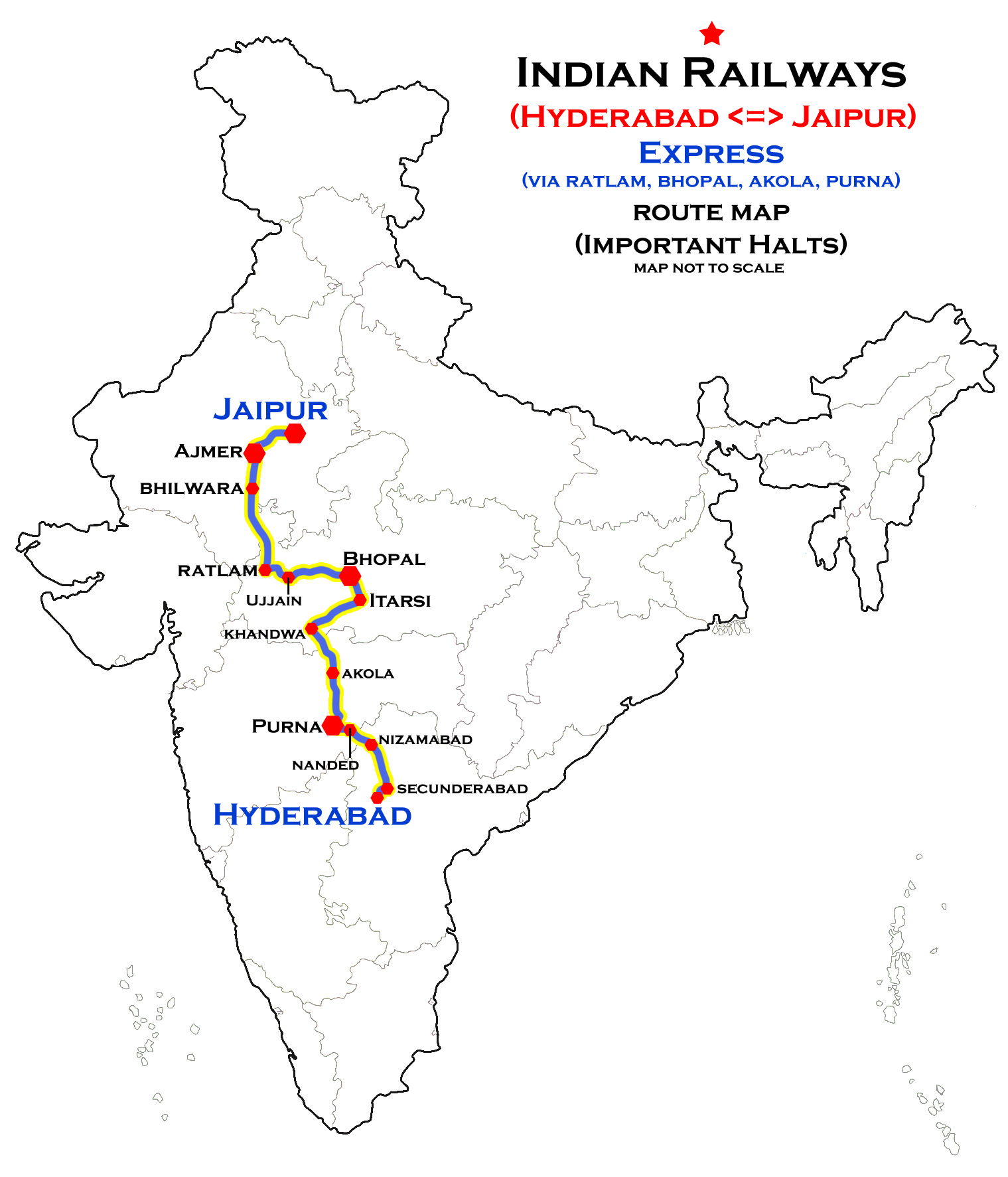Ajmer–Hyderabad Meenakshi Express - Wikipedia
