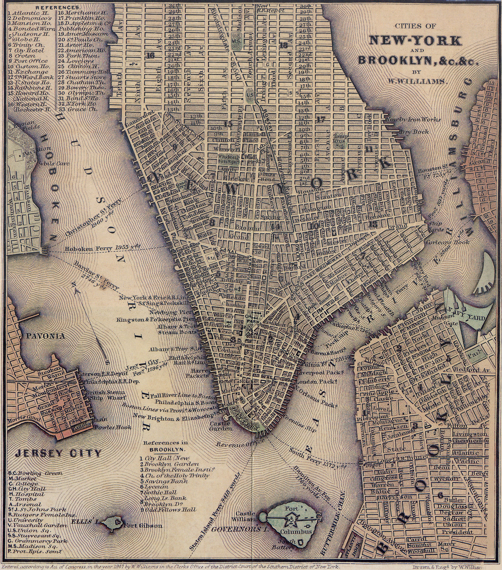 Old Map Of New York.File 1847 Lower Manhattan Map Jpg Wikimedia Commons