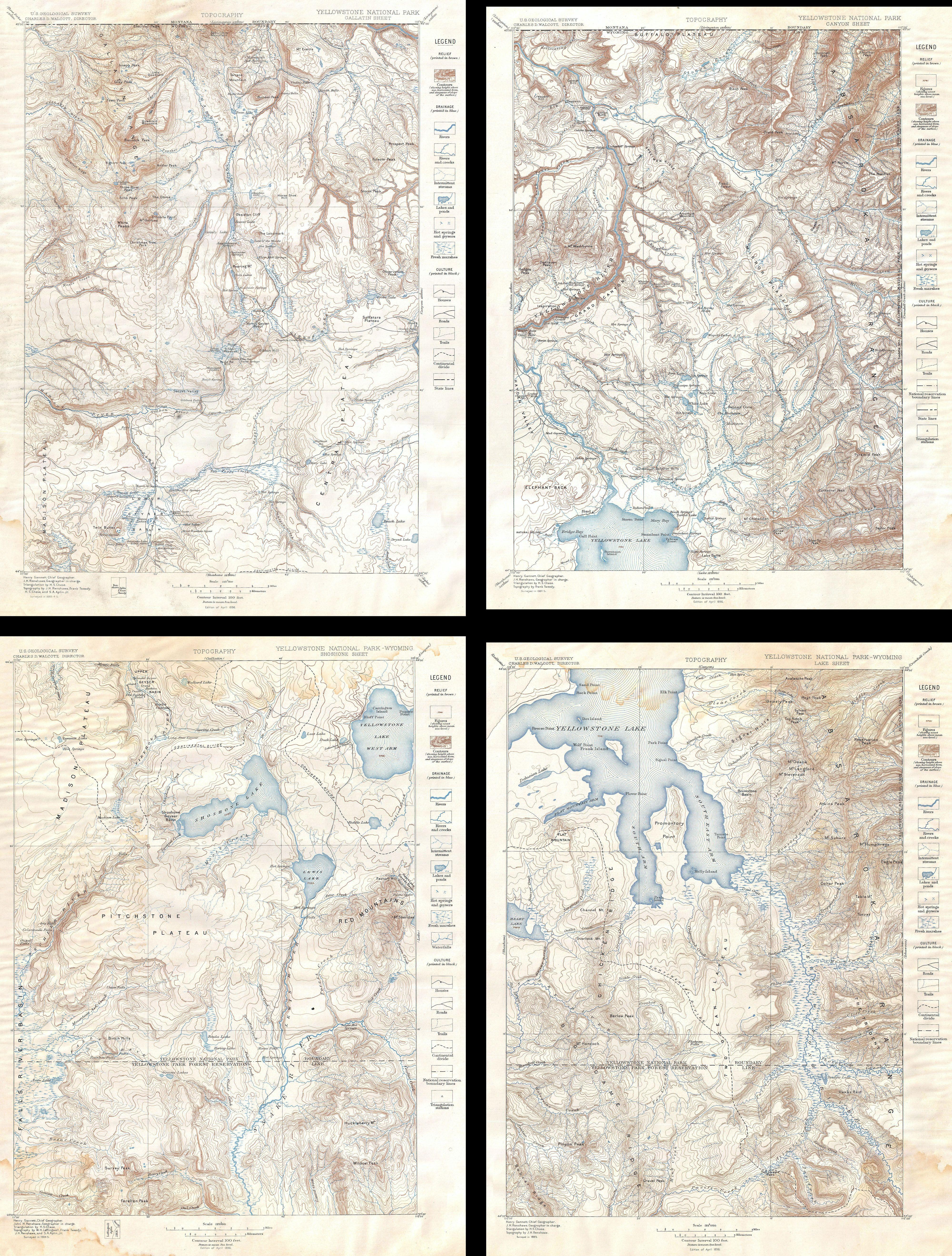 File US Geological Survey Map Of Yellowstone National Park - Map of yellowstone on map of us
