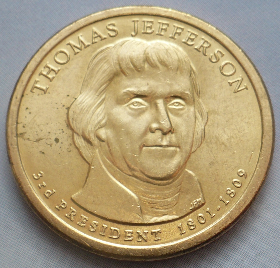 1 dollar Thomas Jefferson