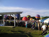 View of Balloons Inflating At The Alabama Jubilee