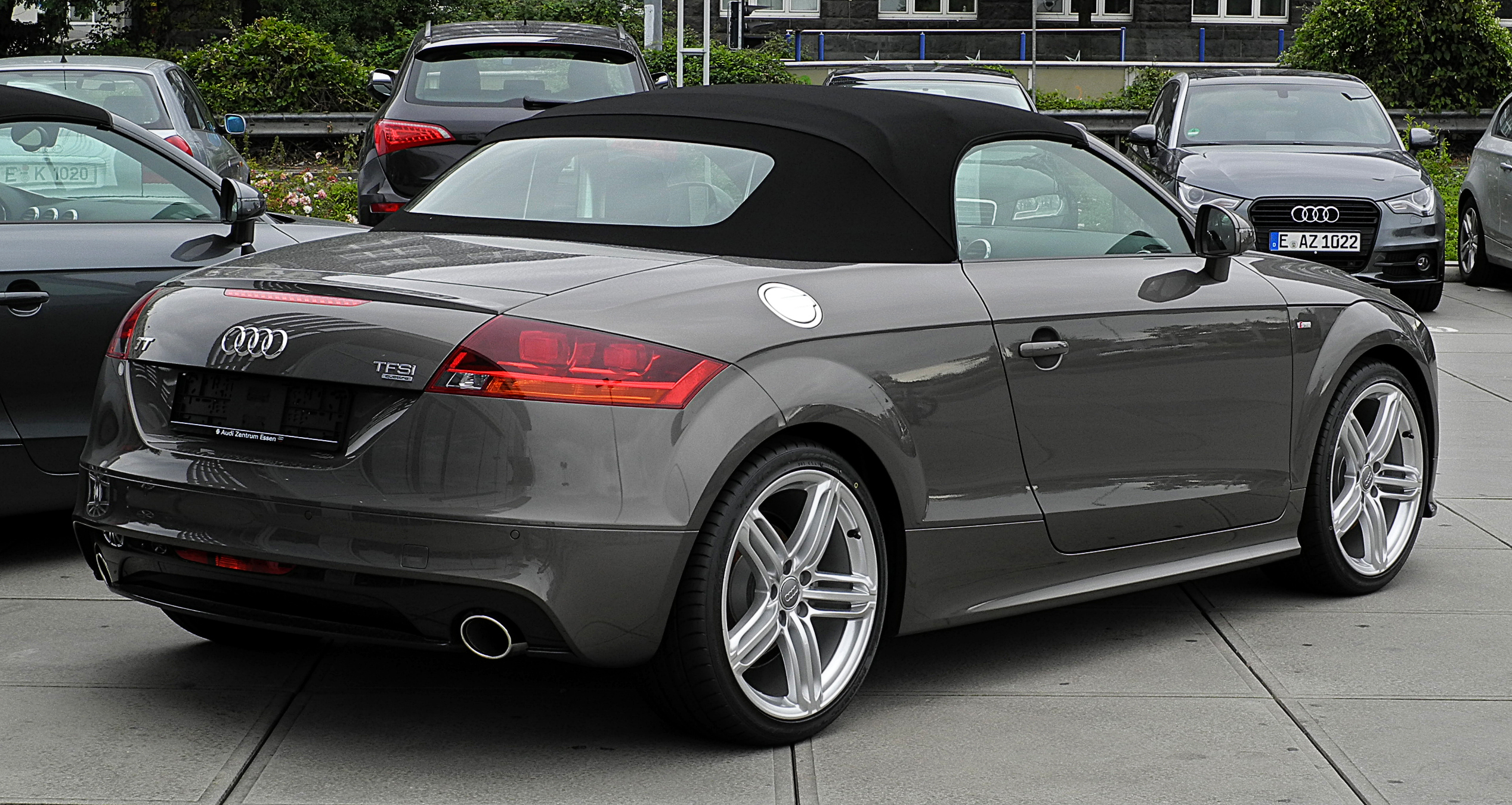 plik audi tt roadster 2 0 tfsi quattro s line 8j facelift heckansicht 3 juli 2011 essen. Black Bedroom Furniture Sets. Home Design Ideas