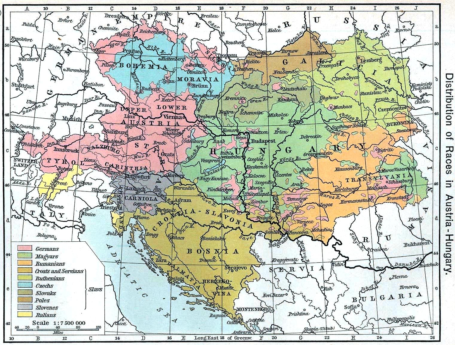 Austro-Hungarian map