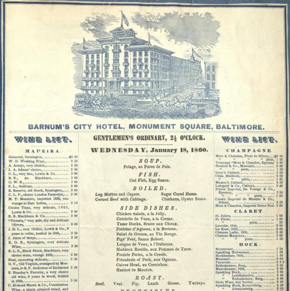 Public Restaurant Menu Kitchener