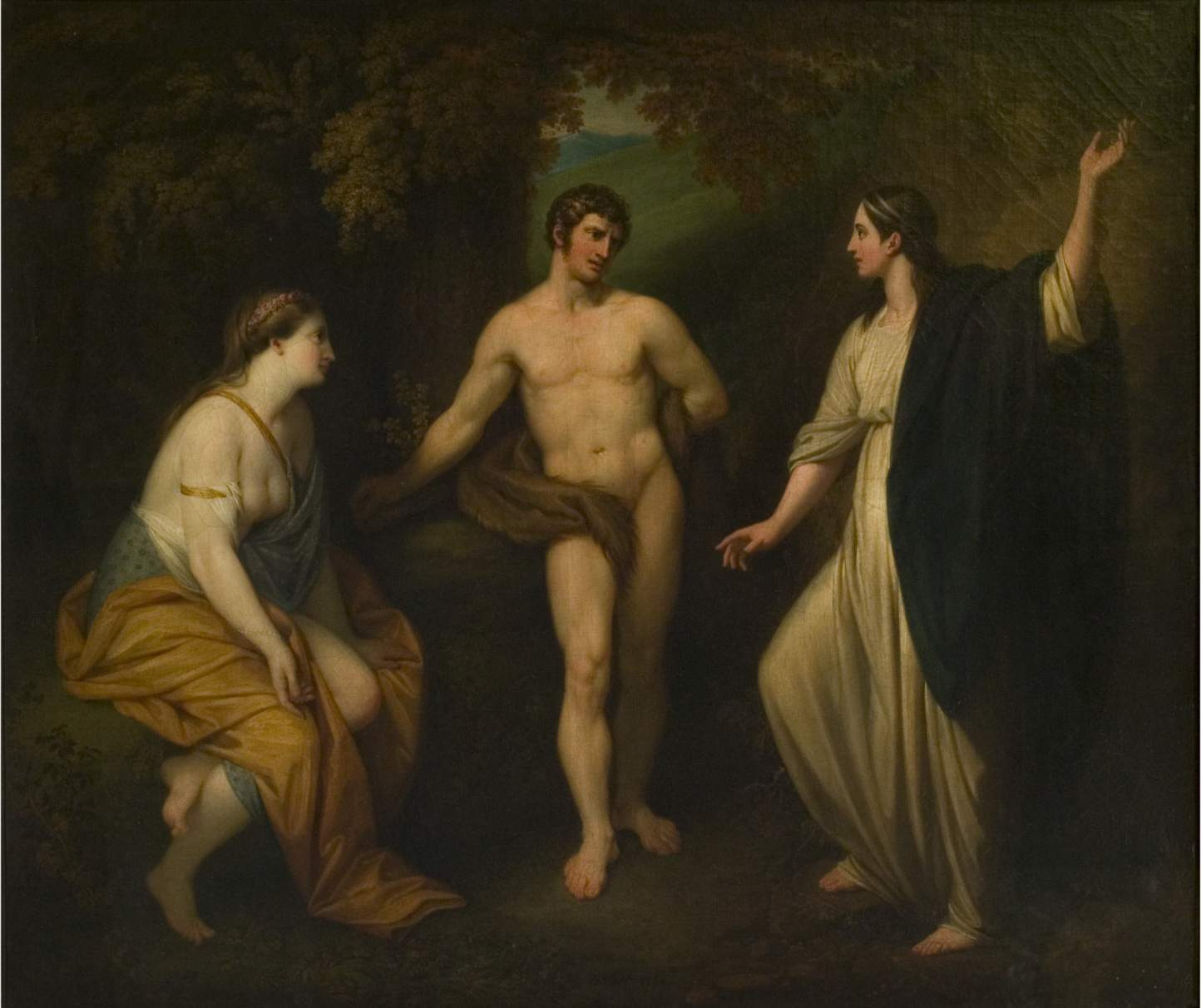 Benjamin West - Choice of Hercules between Virtue and Pleasure