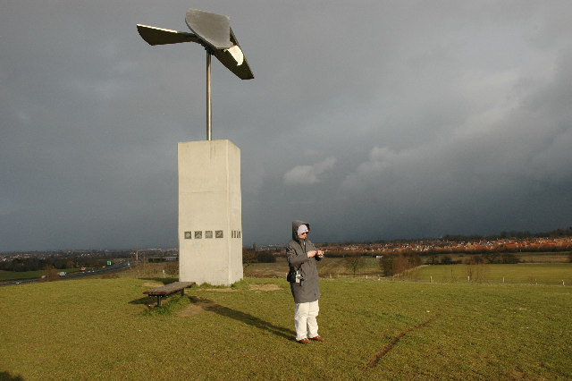 Bird Sculpture above Great Notley Country Park - geograph.org.uk - 57830