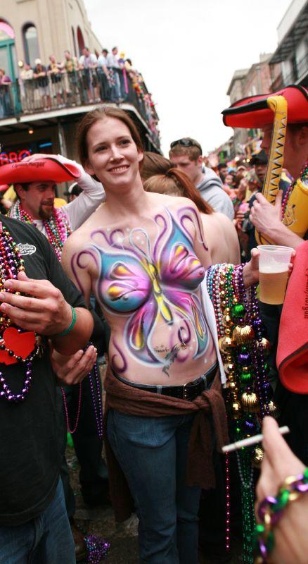 topless bourbon street party porn