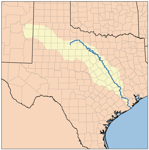 FileBrazos Watershedpng Wikimedia Commons - Texas map rivers