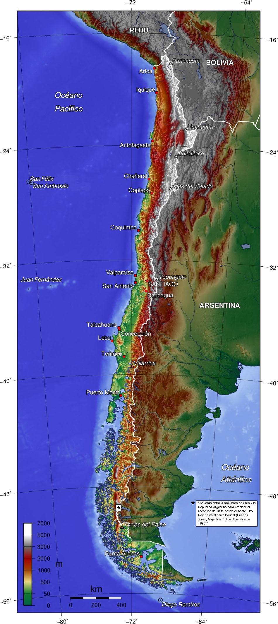 Los primeros Tanques en México. Chile_topo_es