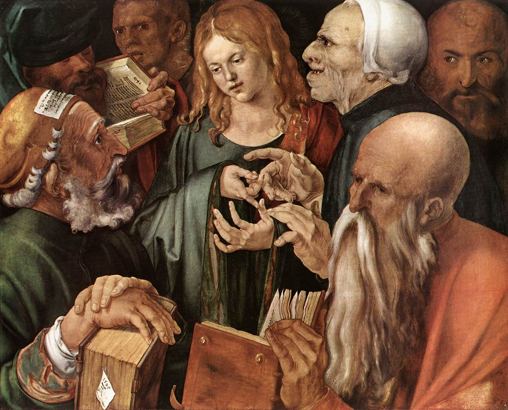 Cristo dodicenne tra i dottori -1506 -Durer