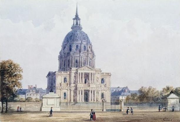 Fichier:Dôme des Invalides et place Vauban par Gaspard Gobaut.jpg