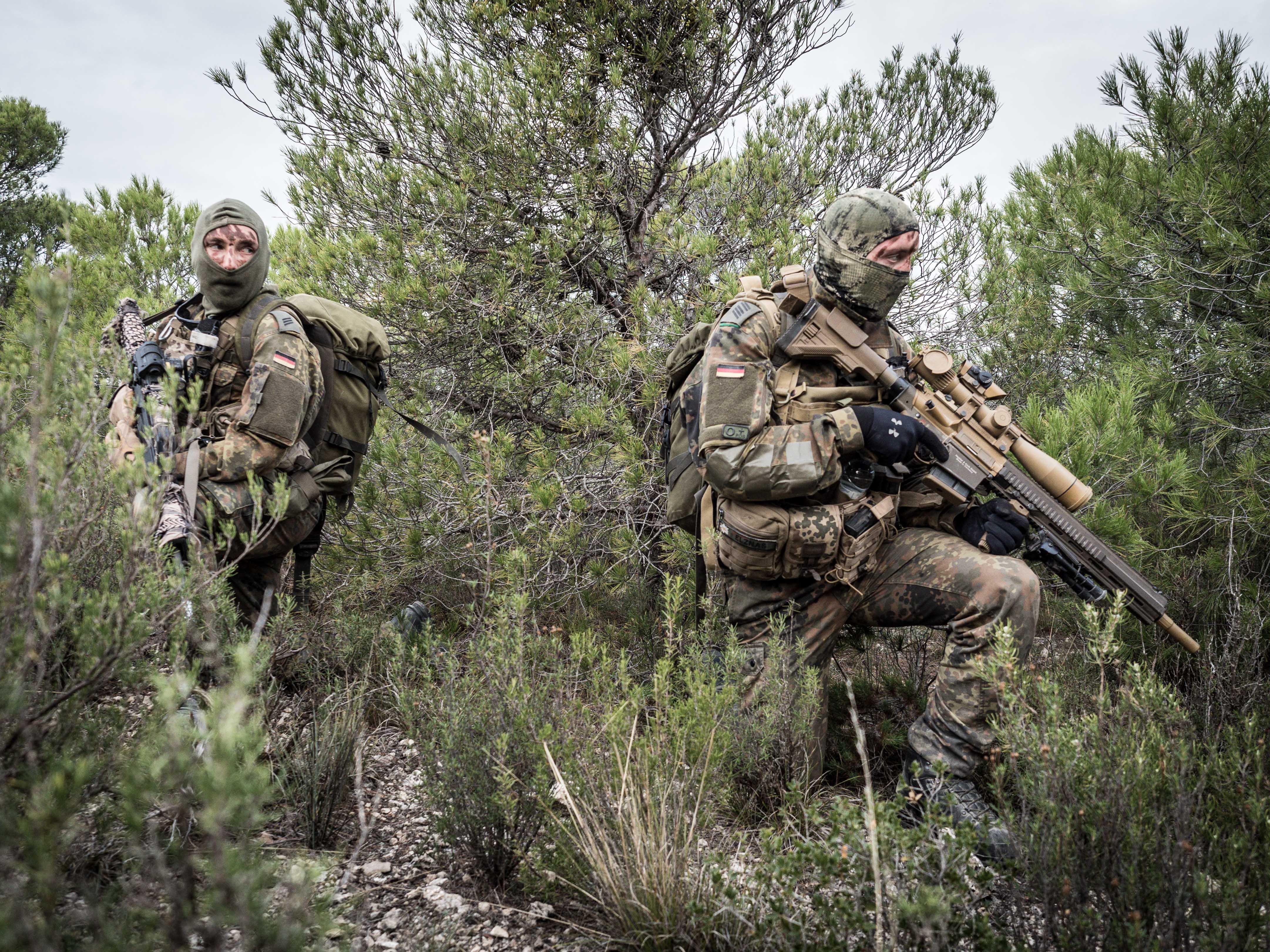 FileDEU Mountain Infantry San Gregorio Spain Trident