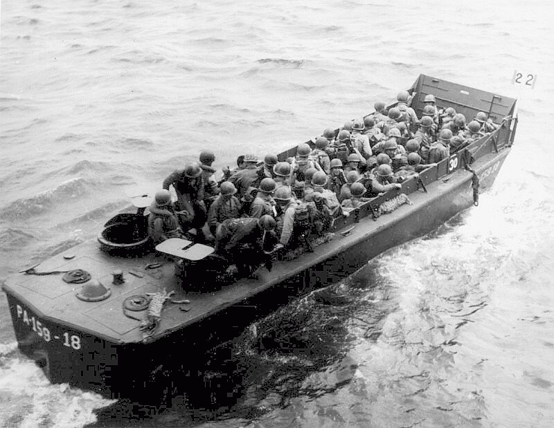 USS Darke  APA-159  s LCVP 18   D Day Invasion Boats