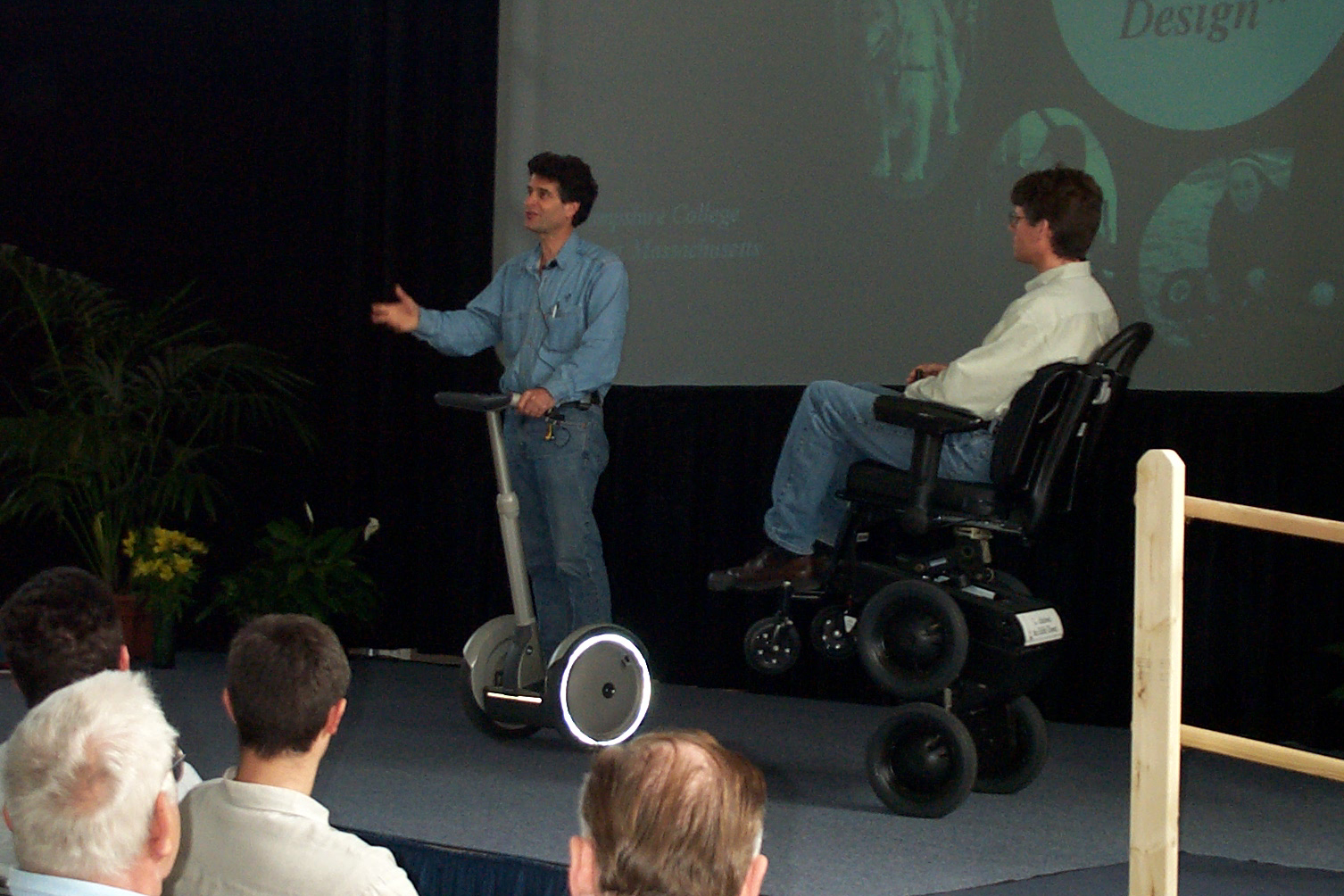 file dean kamen with segway and ibot 113100422 jpg wikimedia commons