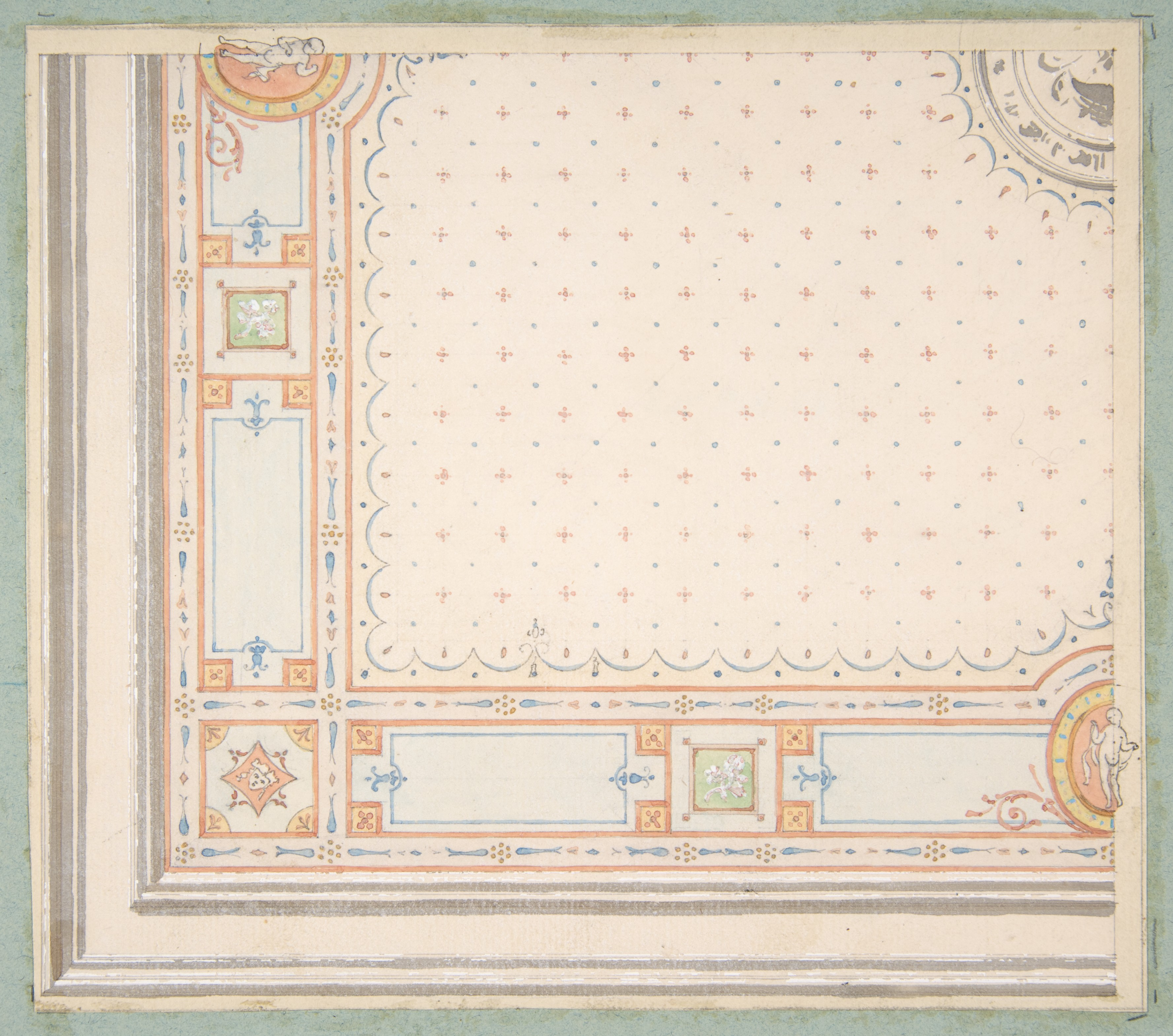 file design for a ceiling  recto   meaurements with design