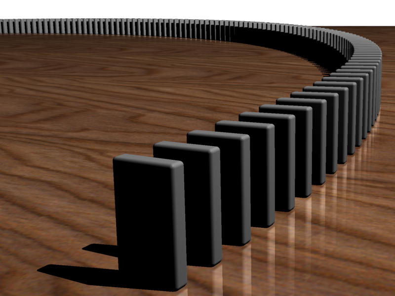Image of dominoes lined up