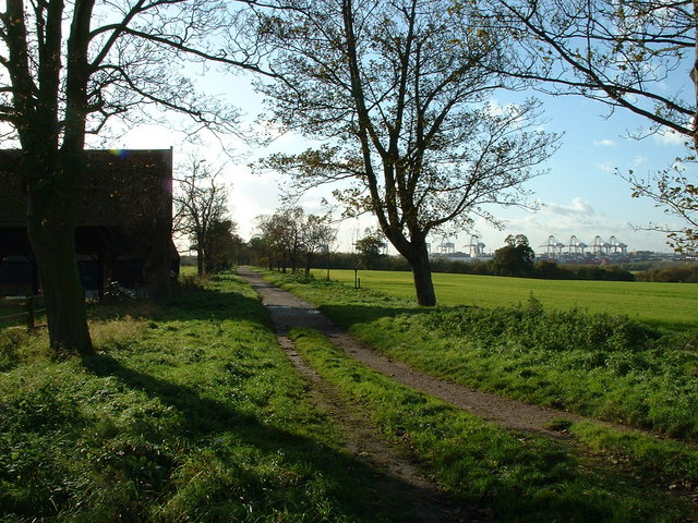 Entrance to Trimley Marshes - geograph.org.uk - 282436