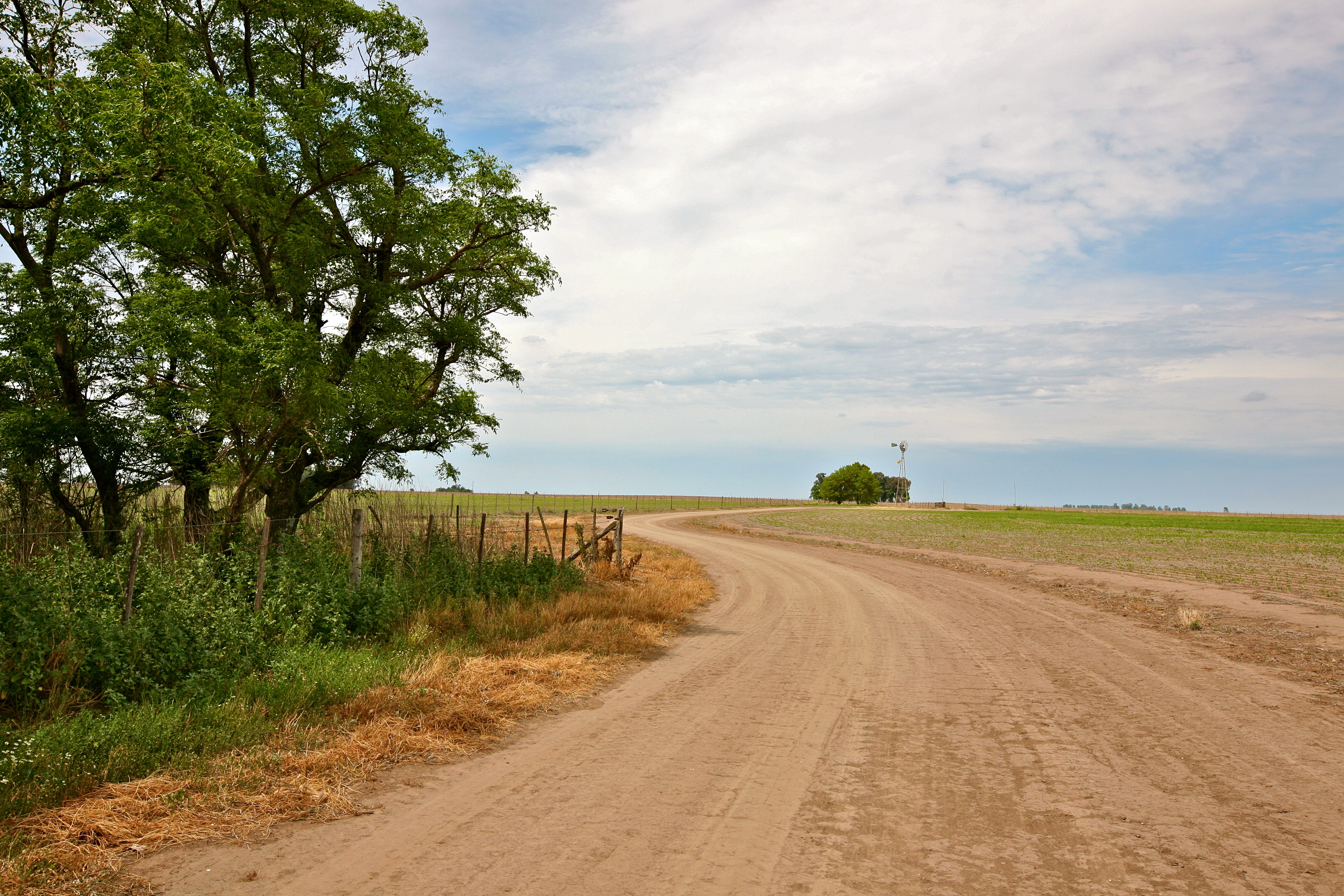 A road and farm land essay