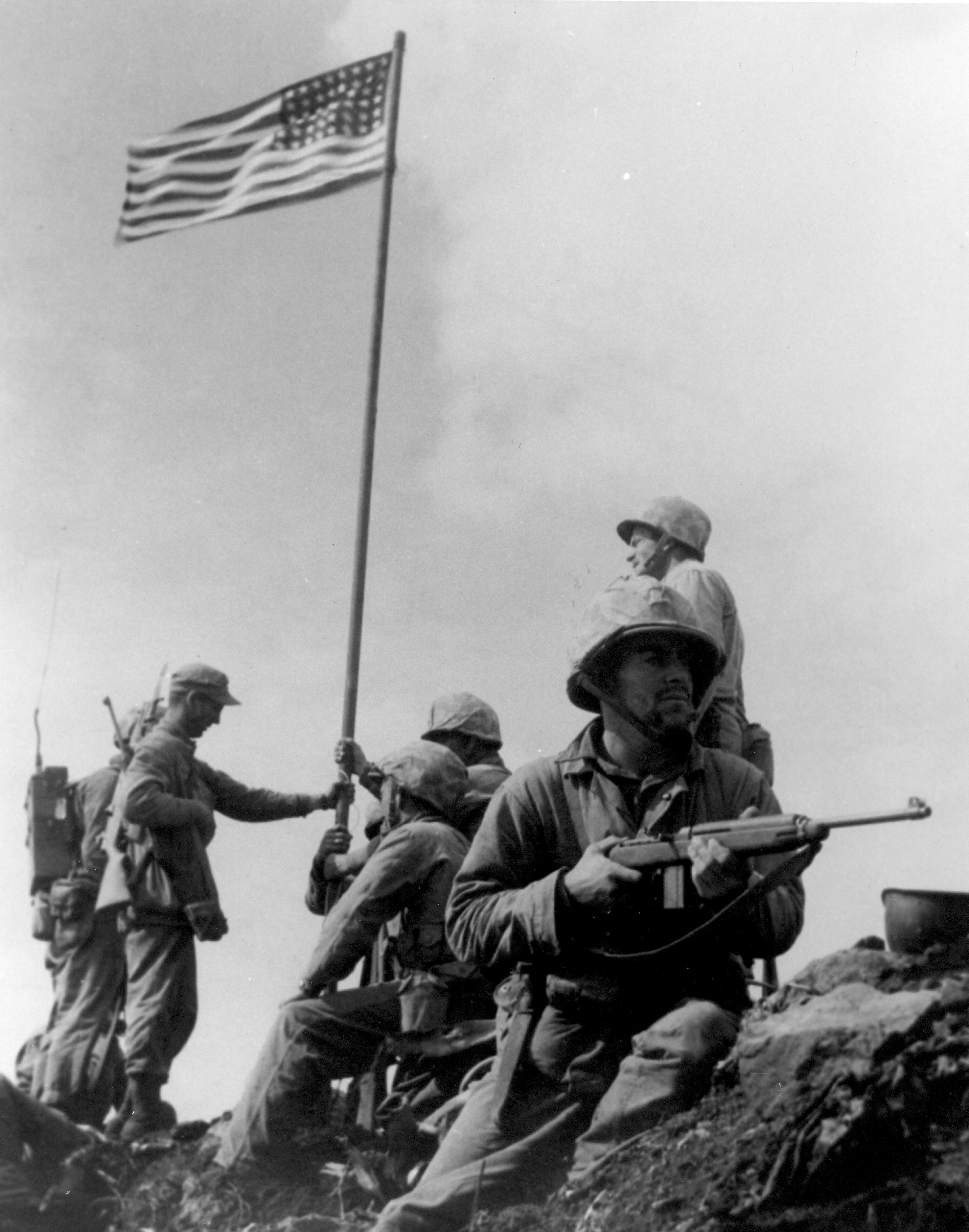 an analysis of the war image old glory goes up on mt suribachi Start studying art history i learn some images used in this set are licensed under the creative old glory goes up on mt suribachi joe rosenthal feb.