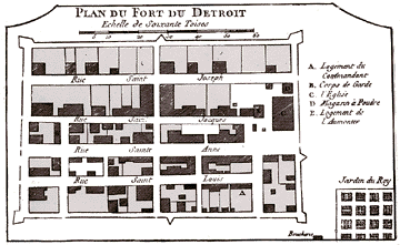 Fort Detroit in 1763