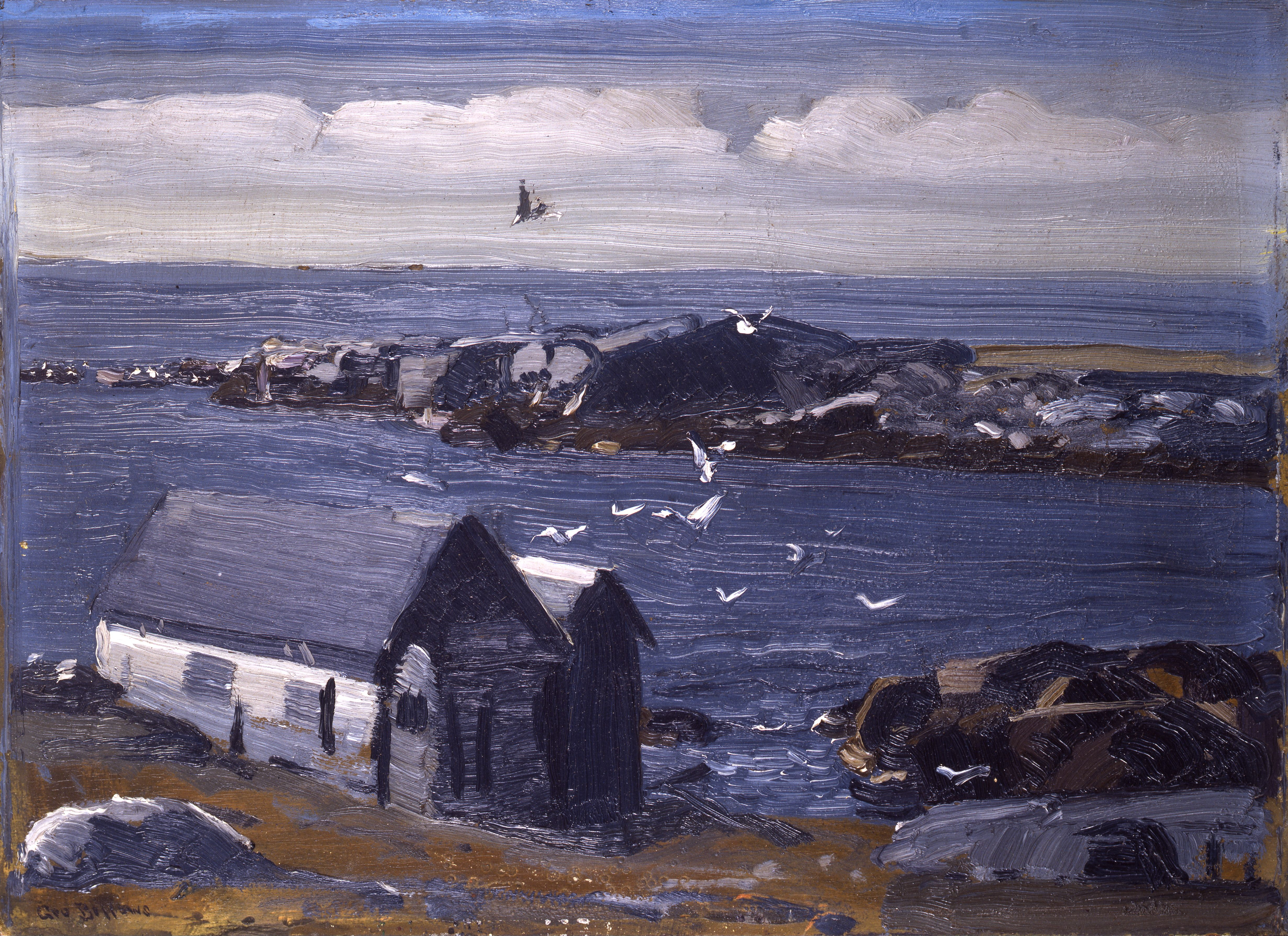 University Of Maine >> File:George Bellows - The Gulls, Monhegan.jpg - Wikimedia