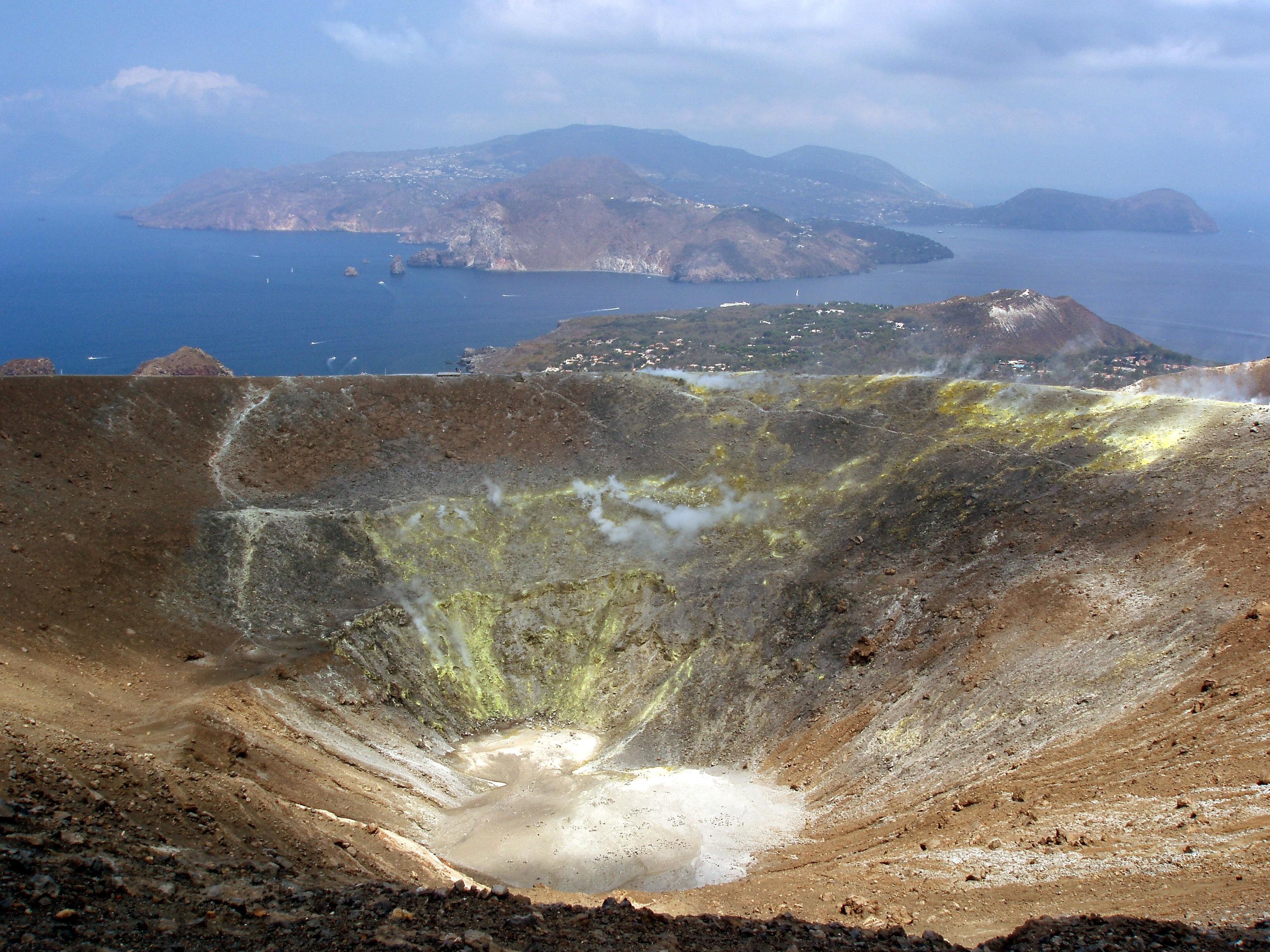 Il Gran Cratere sull'isola di Vulcano