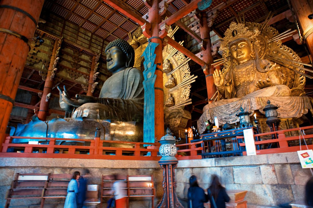 File:Great Buddha Hall of Tōdai-ji temple complex. Nara ...