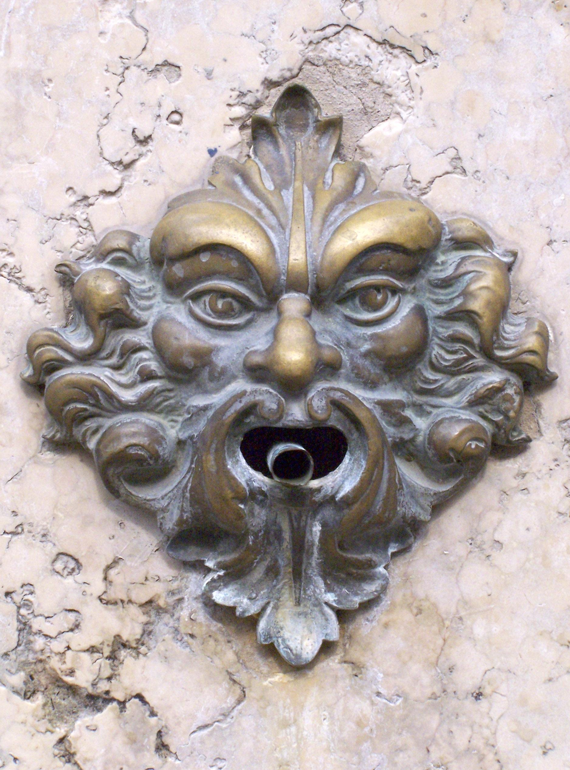 File Green Man Door Bell Jpg Wikimedia Commons