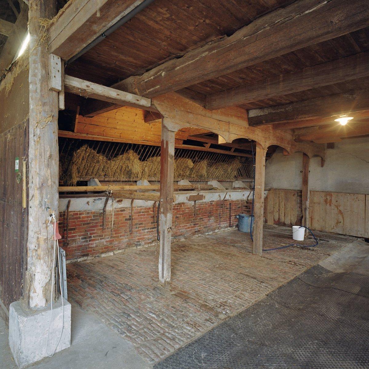 File interieur oude paardenstal met originele voergangen for Huis met paardenstallen te koop
