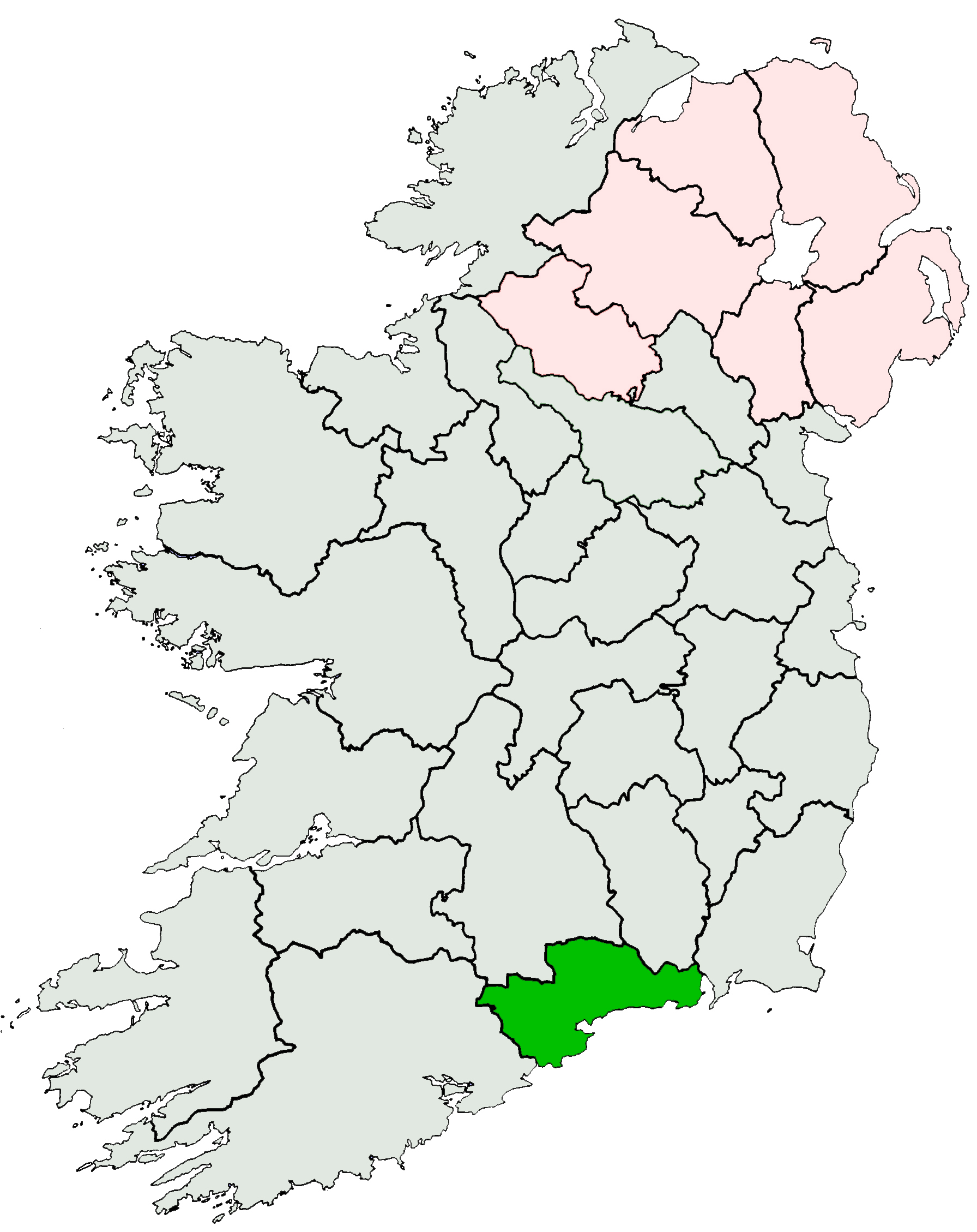 File:Ireland location Waterford.   Wikimedia Commons