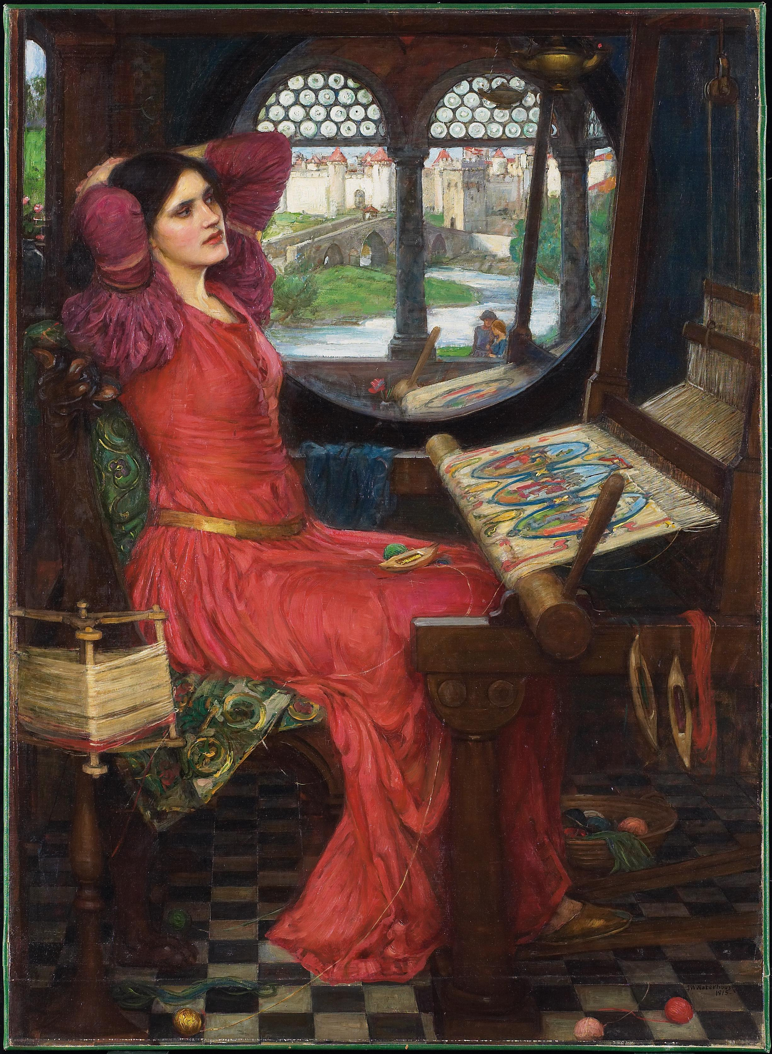 http://upload.wikimedia.org/wikipedia/commons/9/92/John_William_Waterhouse_-_I_am_half-sick_of_shadows%2C_said_the_lady_of_shalott.JPG