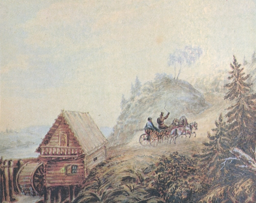 Lermontov - The Landscape with the Mill and the Horse Cart.jpg