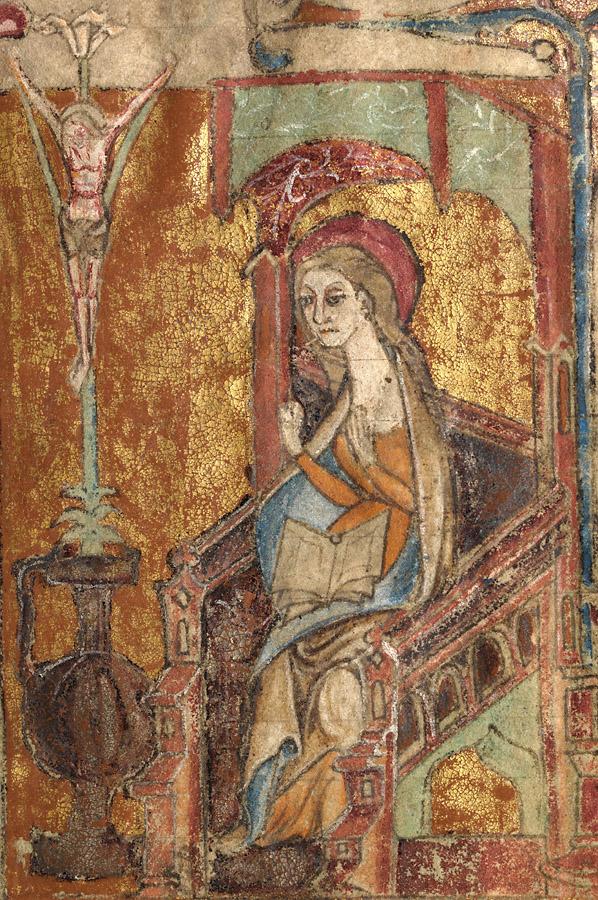 Virgin Mary in an Annunciation scene