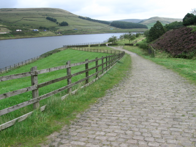 Longdendale Trail at Woodhead Reservoir - geograph.org.uk - 949949