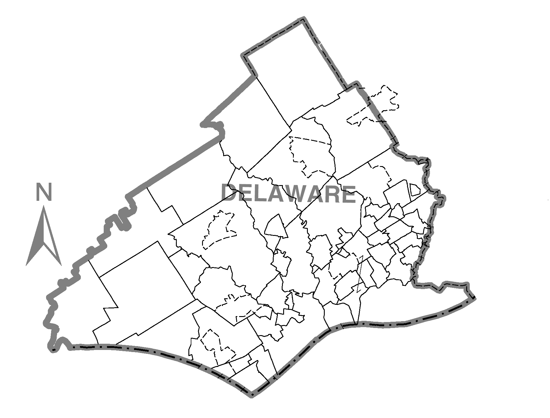 Delaware County Pa Map on