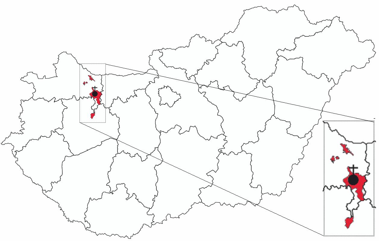 pannonhalma térkép Fájl:Map of Territorial Abbey of Pannonhalma.png – Wikipédia pannonhalma térkép