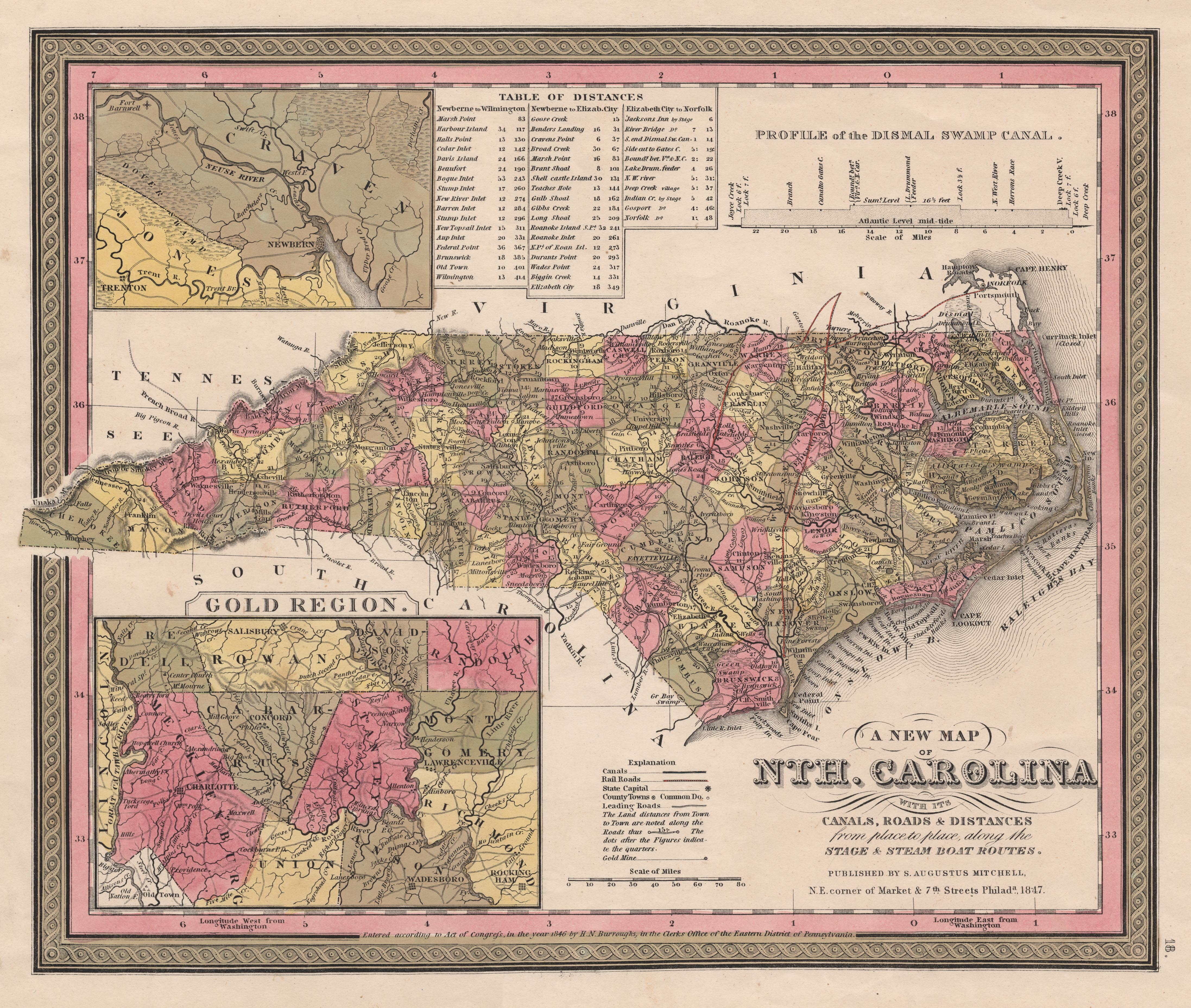 File:Map of the State of North Carolina showing the gold