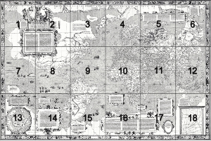 Mercator 1569 world map sheet key.png